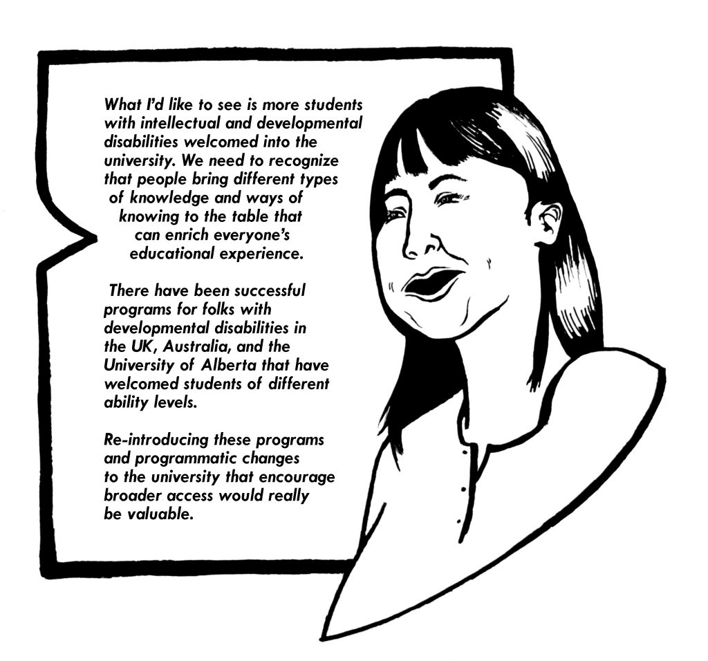 Image of a person smiling, with text beside them.