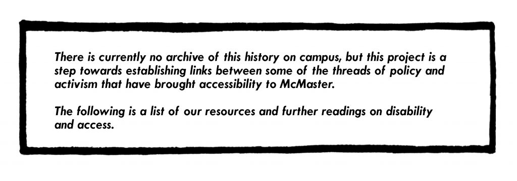 Image of text that discusses this comic as a historical resource and other resources that can be accessed on access and disability.