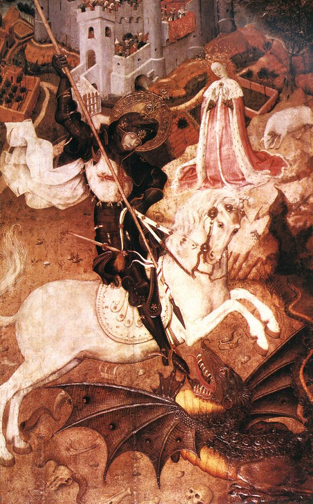 St George Killing the Dragon, Bernat Martorell, 15th century