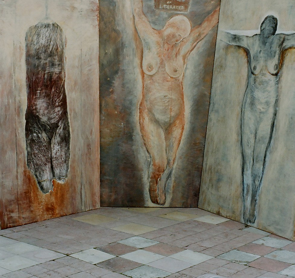 Triptych of the crucified woman 5