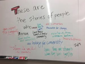 Picture of whiteboard comments from audience